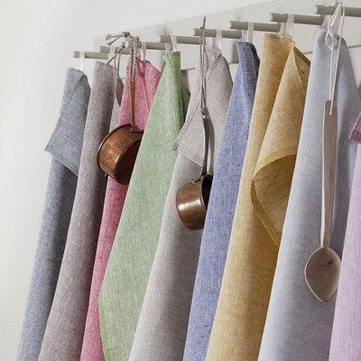 Axlings Keukendoeken set Melerad oker - duurzaam linnen