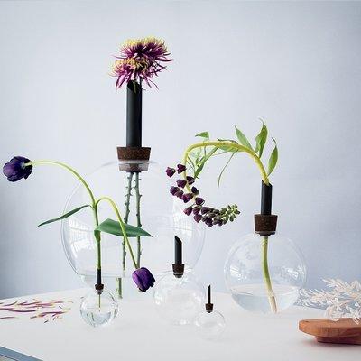 Scandinavia Form Vaas Glasilium zwart Ø20 x H30cm