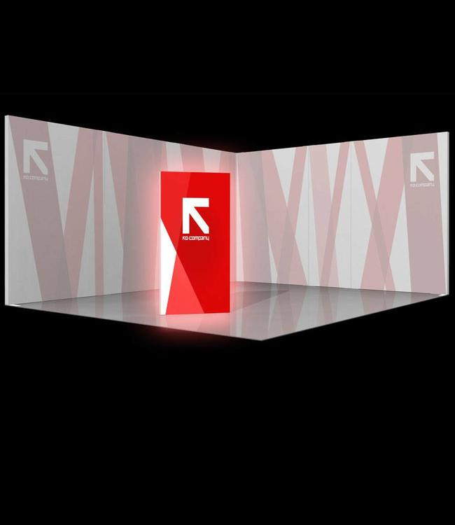 trade show stele illuminated free standing