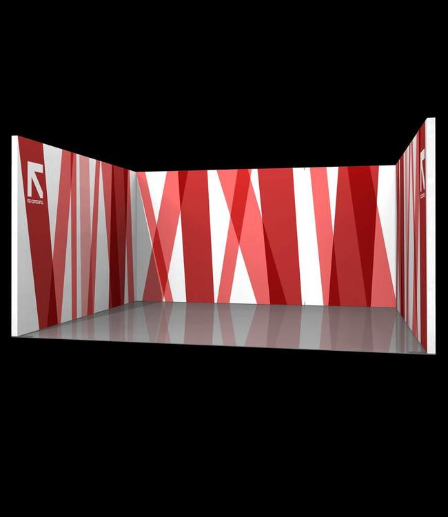 Trade show stand - U-form in different sizes