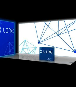 free standing backlit trade show walls