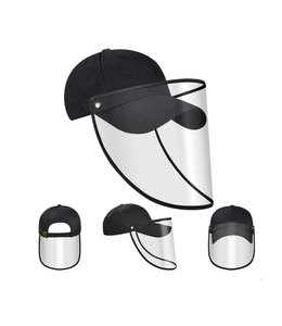 Face shield visor with cap for adults