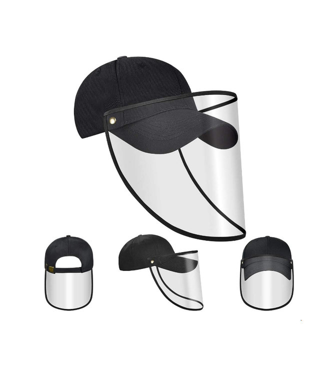 Face shield visor with cap for adults -  protects against sun rays and droplet infections