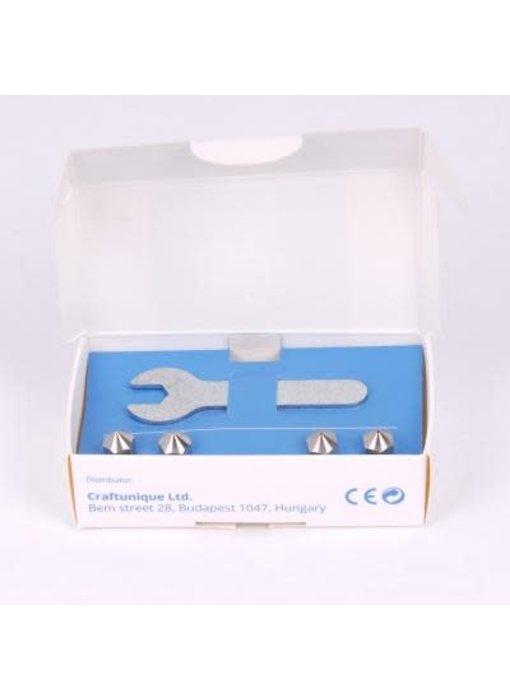 Craftunique MK8 Steel Nozzle kit Craftbot 2 & Plus & XL