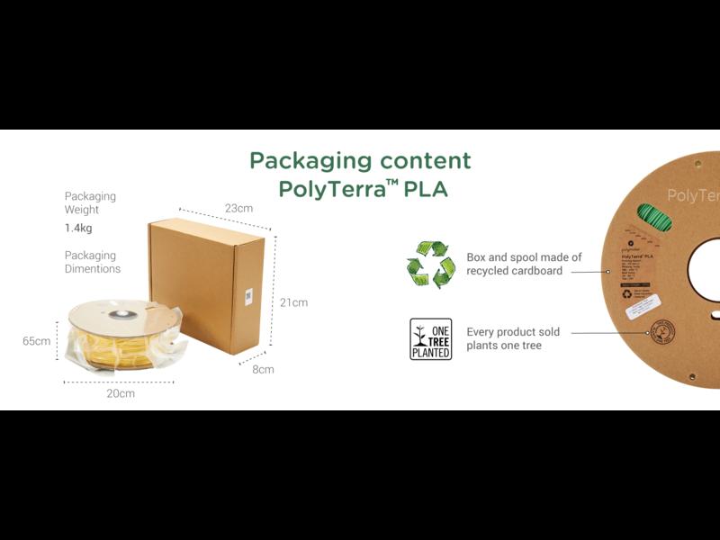 Polymaker Polyterra PLA Houtskool Zwart