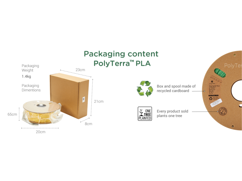 Polymaker Polyterra PLA Fossiel Grijs