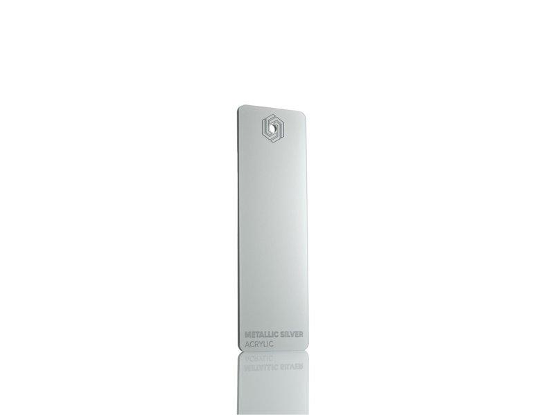 Acrylic Metallic Silver 3mm - 3/5sheets
