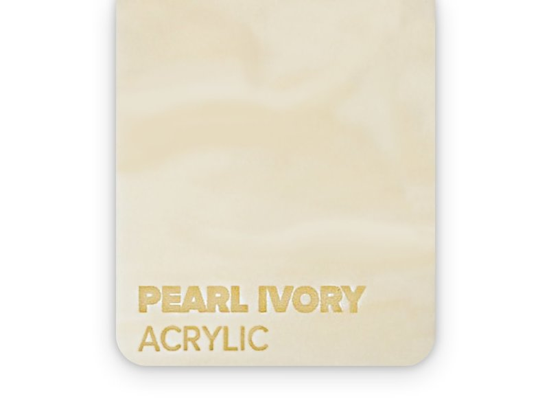 Acrylic Pearl Ivory 3mm - 3/5sheets