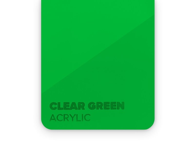 Acrylic Clear Green 3mm - 3/5sheets