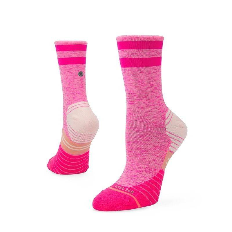 Stance Stance Distance Crew Pink Loopsok Dames - Copy