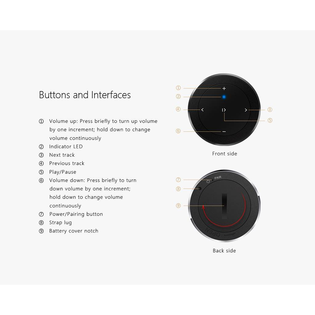 FiiO RM1 Bluetooth Afstandsbediening
