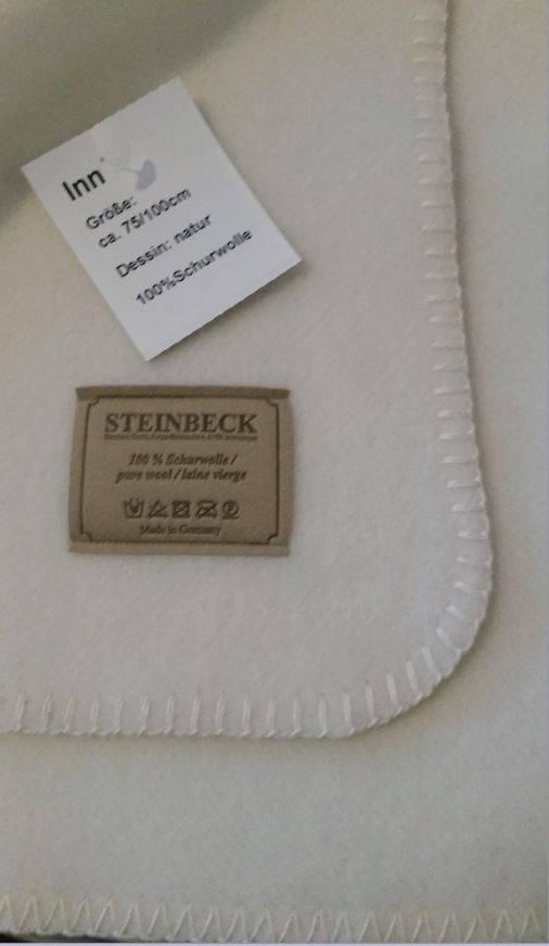 Steinbeck  Wollen baby deken Inn ca  75 / 100 cm