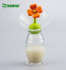 Haakaa Borstkolf 150 ml met oranje  bloem