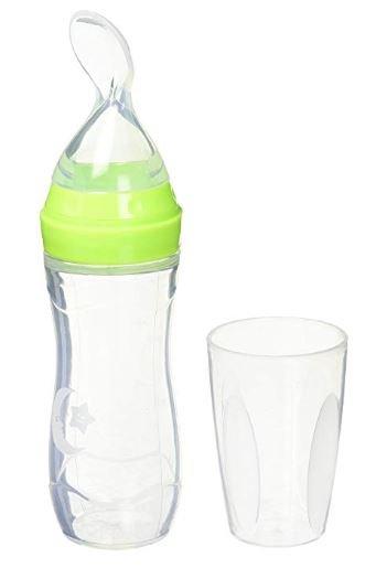 Haakaa Haakaa baby lepel aan fles ( groen )
