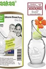 Haakaa Siliconen Borstkolf Haakaa 100 ml met oranje bloem - Copy