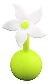 Haakaa Siliconen Borstkolf Haakaa 100 ml met witte  bloem