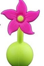 Haakaa Siliconen Borstkolf Haakaa 100 ml met paarse bloem