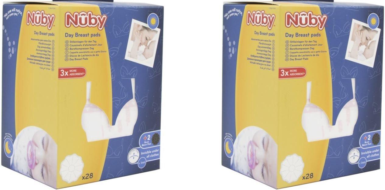 Nûby Nûby witte disposable  zoogcompressen 2 pakken - Copy