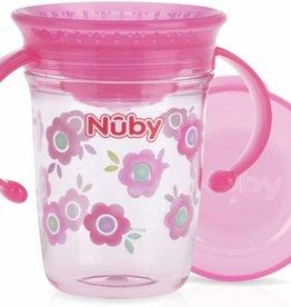 Nûby 360 graden wonder cup drinkbeker Rose