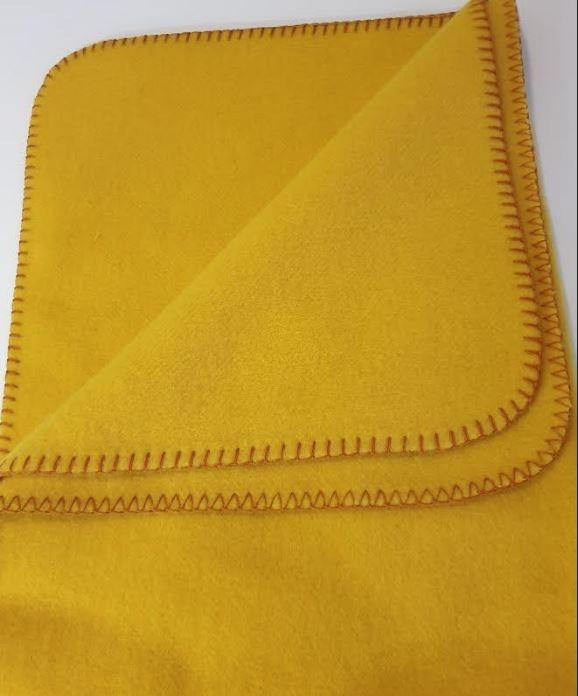 Steinbeck  Wollen baby deken Inn ca  75 / 100 cm  - geel