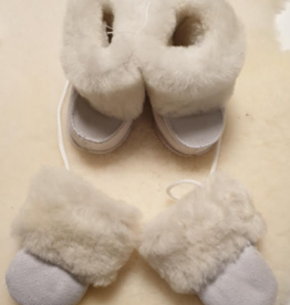 Baby sloffen met handschoentjes