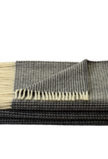 Steinbeck  Woonplaid Wafel  donker grijs / off white 150 / 210 cm