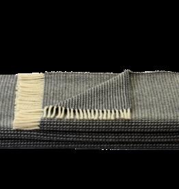 Steinbeck  Woonplaid Wafel  donker grijs / off white