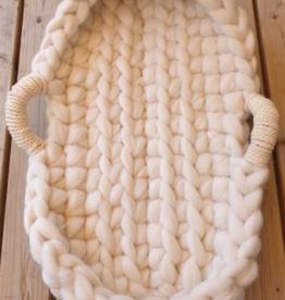 Sponde Wollen babynestjes whitty met deco handvaten