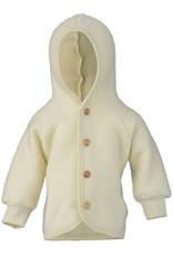 Engel natur Wollen baby jasje met houten knoopjes Naturel