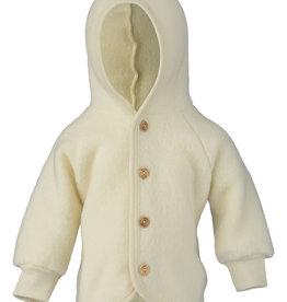 Engel natur Wollen jasje met houten knoopjes