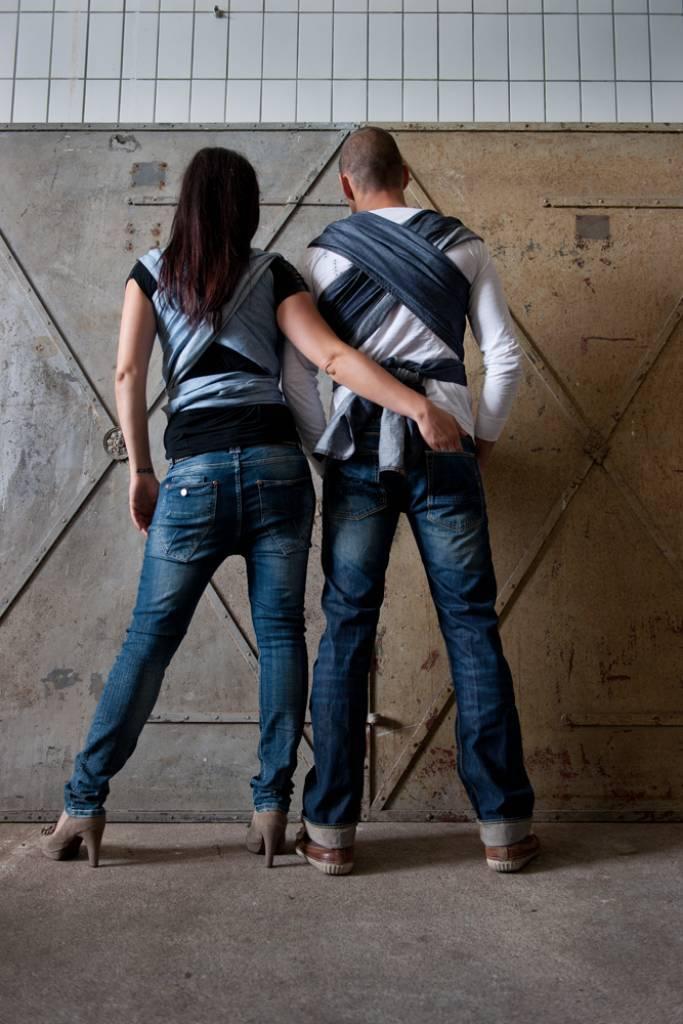 By Kay Draagdoek Woven Wrap Deluxe Dark Jeans