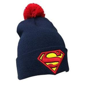 Superman Muts met pompom voor volwassenen