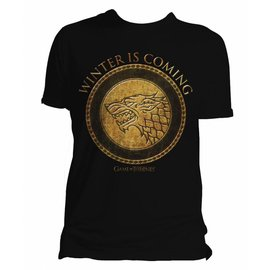 Game of Thrones shop T-shirt Stark Goud logo