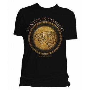 Game of Thrones shop T-shirt Stark Goud logo