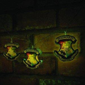 Harry Potter String Lights Hogwarts Crests