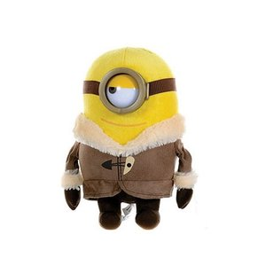 Despicable Me Minion knuffel Stuart met vest 28cm