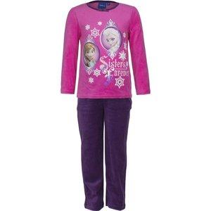 Frozen Lange Fluwelen Pyjama (Roze/Paars)