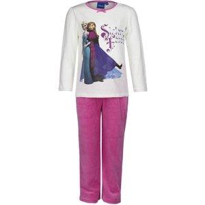 Frozen Lange Fluwelen Pyjama (Wit/Roze)