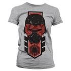 Star Wars Episode 7 Girly Kylo Ren Vintage Dames T-shirt (grijs)