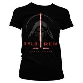 Star Wars Episode 7 Girly Kylo Ren First Order Dames T-shirt (zwart)