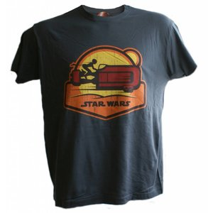 Star Wars Episode 7 The Force Awakens T-shirt Speeder (donkergrijs)