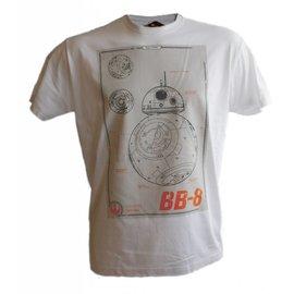 Star Wars Episode 7 T-shirt BB-8 Blueprint (wit)