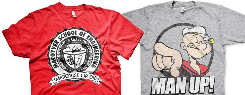 Ontdek de leukste T-shirts van retro helden