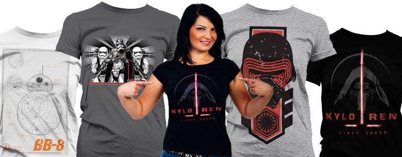 Leuk Star Wars shirt dames in huis halen