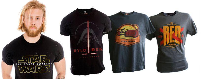 Star Wars shirt heren met je favoriete personage