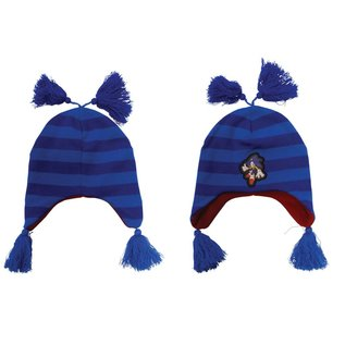 Sonic Blue Striped Beanie