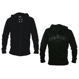 Jack Daniel's Black Logo Zipped Hooded Sweater