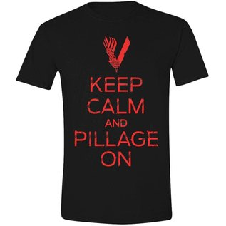 Vikings T-shirt Keep Calm... (zwart)