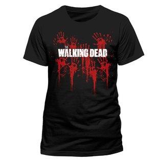 The Walking Dead Bloody Hands Logo T-Shirt