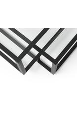 Spectrum design Tangled salontafel Square (zwart) voor Spectrum